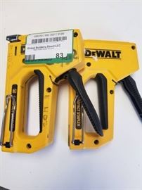 lot of 2 Dewalt compact staplers