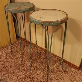 Very nice pair of ice cream parlor stools.