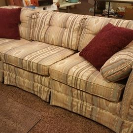 Beautiful Southwest-style couch with matching loveseat.