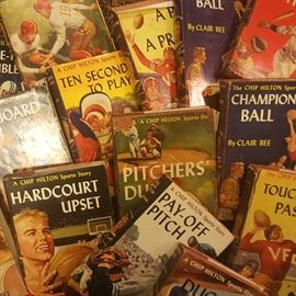 Very collectable Chip Hilton Sports Stories books. Condition varies widely.