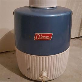Vintage Coleman 3-gallon water jug.