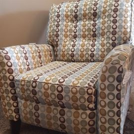 Contemporary recliner.