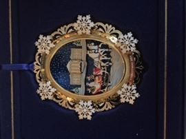 White house ornament close up