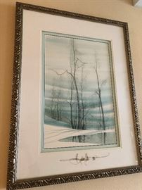 Original painting of Buckley Moss, signed and framed