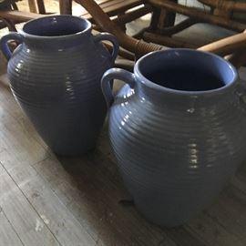 Periwinkle blue urns- $125/pair