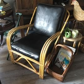 Bamboo chair, vintage, $175