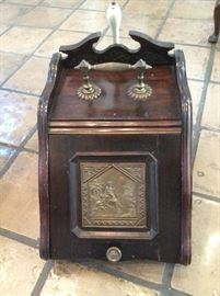 Ornate coal bin