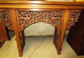 Beautiful carved sofa table