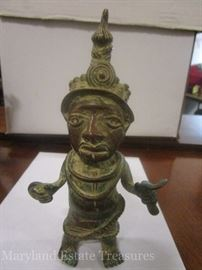 Cast iron and copper African made statue