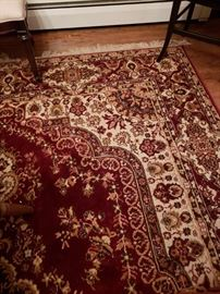 8x10 Oriental Rug in cream and burgandy