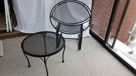 MCM Wrought Iron Chair Table
