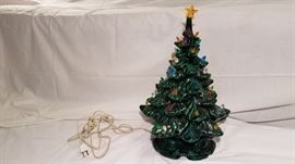 Vintage Ceramic Lighted Christmas Tree