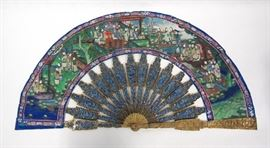 A Canton Painted Fan