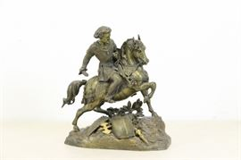An Antique Russian Bronze of Peter The Great