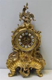 ANSONIA Signed Gilt Bronze Louis XV Style