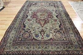 Antique and Finely Hand Woven Kerman Carpet AsIs