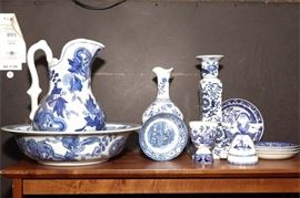 2. Lot of Assorted Blue White China