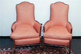 7. Pair of French Provincial Style Bergeres