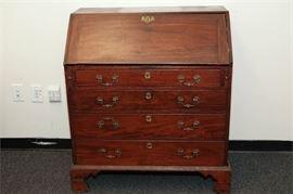 8. Antique George III Slant Front Desk