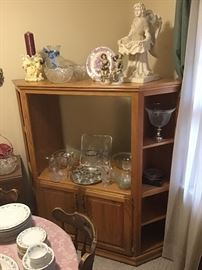Corner TV cabinet crystal and more
