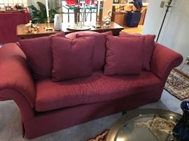 One of a pair of sofas