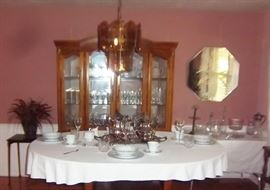 China Cabinet and Formal Glassware & Crystal, China, Silverplate Coffee/Tea Service