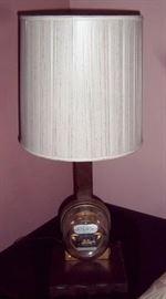 Custom Made Vintage Electric Meter Lamp (meter runs when lamp is on)