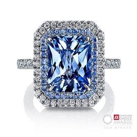 LOT 971 Padparadscha Sapphire Ring