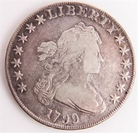 Lot 282 - Coin 1799 United States Bust Dollar Very Fine!