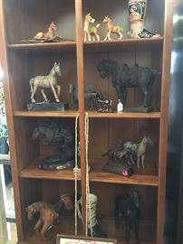 Horse collectibles and bronze