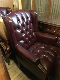 Nice leather office / parlor chairs