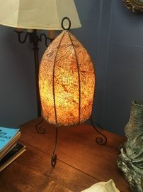 Native American leather lamps