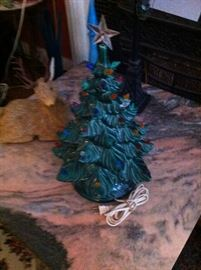 Ceramic Christmas tree (has all the bulbs)