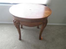 Older Round Occasional Table, Wonderful Carved Details