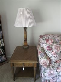 2nd Table & Lamp