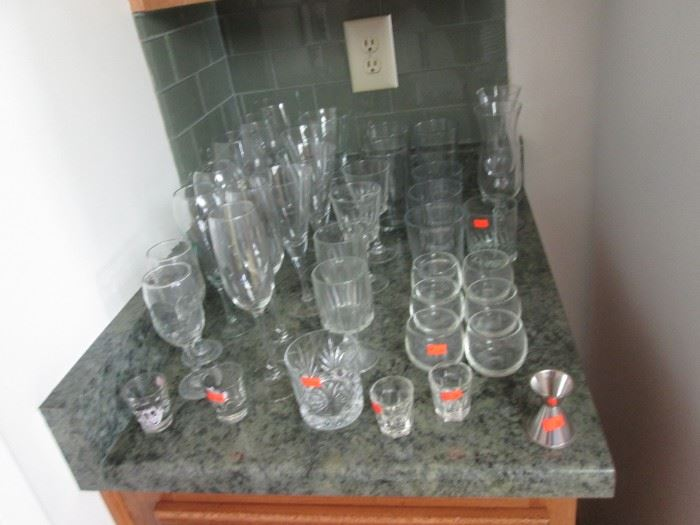 Assorted Glassware, Various Sizes