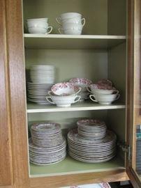 Large Set including Serving Pieces