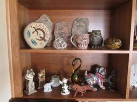 Southwest-Style Pottery & Animal Sculptures