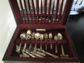 """Silver Plate Flatware """"Community"""" with Chest"""