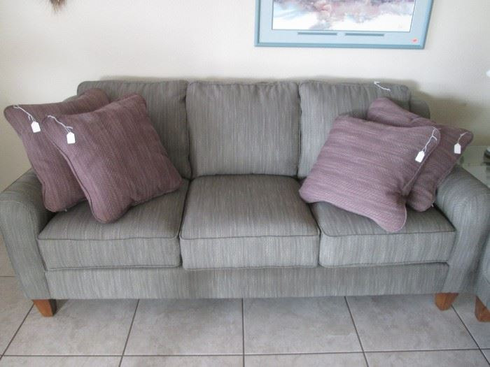 3-Piece La-Z-Boy Group, Contemporary Styling.                    Sofa, Love Seat & Ottoman, all in LIKE-NEW CONDITION!  Pale Green Color