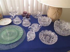 Beautiful Cut Glass & Crystal