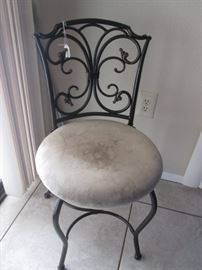 Metal & Upholstery Accent Chair