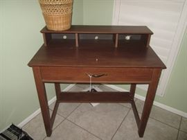 Small Desk with Drawer & Cubbies