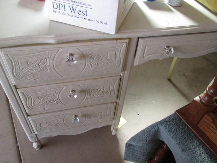 Small White Knee Hole Desk