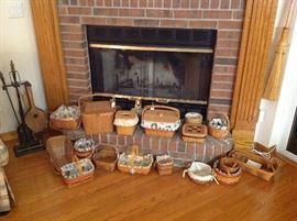 Many Longeberger Baskets