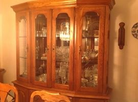 Large China Cabinet with Table with 6? Chairs