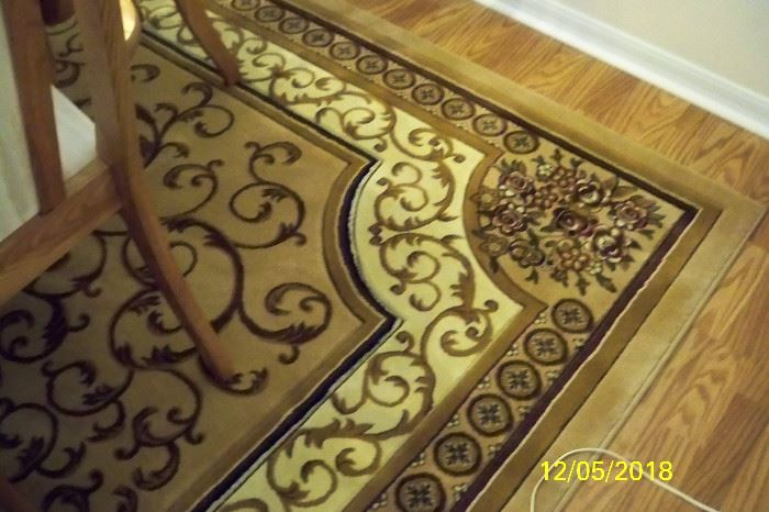 Close up of Dining Room Area Rug