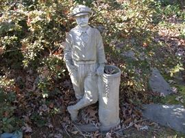 Statuary Golfer and his bag (Forest Oaks)