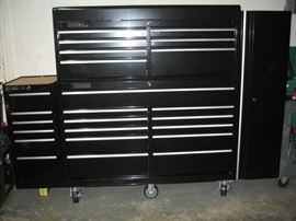 Master Force 18 drawer mobile tool chest & cabinet combo w/side box - w/side locker.