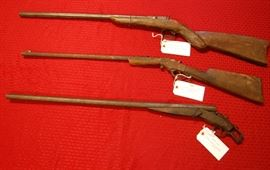 Civil War era rifles, wall hangers.